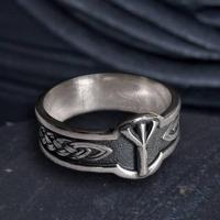 Кольцо с Руной Альгиз