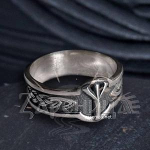 Кольцо с Руной Альгиз,