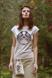 """Блуза со спущенным плечом """"Вещие Вороны"""""""