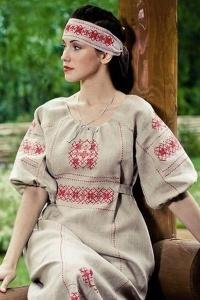 """Платье """"Берегиня"""" серое"""