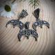 Набор Звезда Лады в Луннице с изумрудами