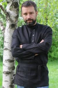 """Косоворотка """"Иван Царевич"""" чёрная"""