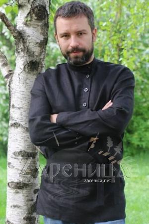 """Косоворотка """"Иван Царевич"""" чёрная,"""