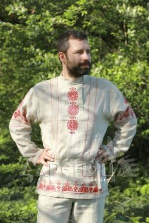 """Косоворотка """"Богатырь"""" с обережной вышивкой,"""