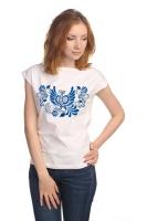 """Блуза со спущенным плечом """"Синяя Птица"""""""