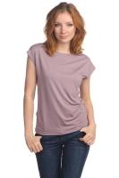 Блуза со спущенным плечом щербет