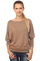 Блуза летучая мышь коричневая
