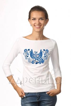 """Блуза """"Синяя Птица"""" белая,"""