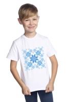 """Футболка """"Цвет Зимы"""" для мальчиков белый"""