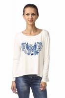 """Блуза с удлиненной спинкой """"Синяя птица"""""""