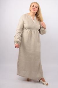 Платье из льна с вышивкой