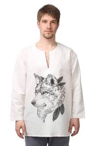 Рубаха льняная «Царь леса» белая