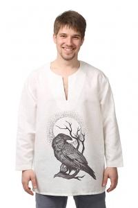 Рубаха льняная «Царь-Ворон» белая