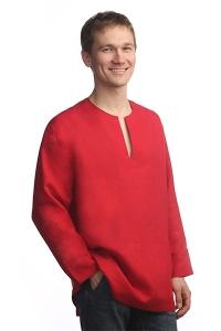 """Рубаха """"Богатырь"""" красная"""