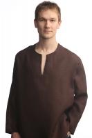 """Рубаха """"Богатырь"""" коричневая"""