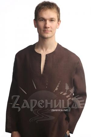 """Рубаха """"Богатырь"""" коричневая,"""