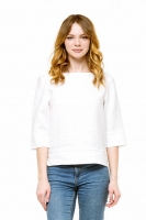 Блуза льняная белая