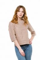 Блуза льняная бежевая