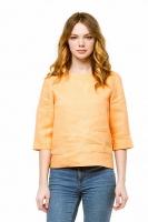 Блуза льняная персиковая