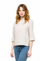 Блуза льняная серая