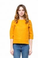 Блуза льняная янтарная