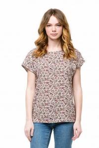 """Блуза базовая со спущенным плечом """"Цветущий луг"""""""