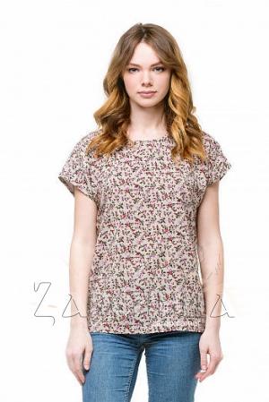 """Блуза базовая со спущенным плечом """"Цветущий луг"""","""