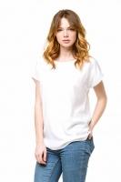 Блуза базовая со спущенным плечом белая