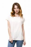 Блуза базовая со спущенным плечом бежевая