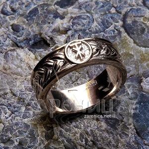 Кольцо плетёное с чертогом СВА серебро,