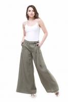 Льняные брюки хакки
