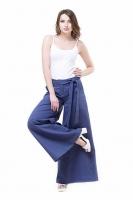 Льняные брюки синии