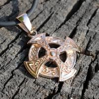 Оберег Кельтский Крест в золоте