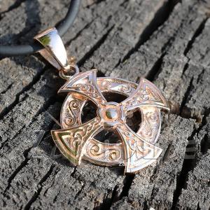 Оберег Кельтский Крест в золоте,