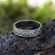 Кольцо плетёное с чертогом СВА серебро