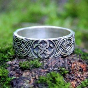 Кольцо со Свадебником с орнаментом,