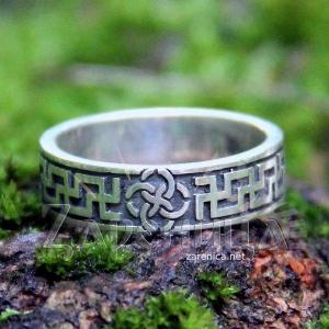 Кольцо со Свадебником с солнечным орнаментом,