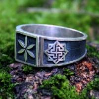 Перстень Звезда Перуна-Валькирия-Одолень Трава