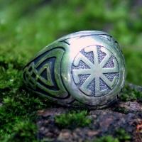 Перстень Колядник с чернением