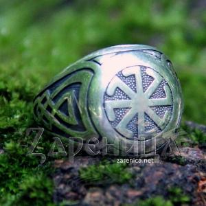 Перстень Колядник с чернением,