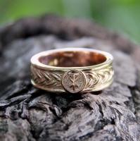Кольцо плетёное с чертогом Лося