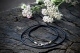 Каучуковый шнурок с серебряным замком