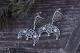 Серьги Звезда Лады в Луннице с чернением