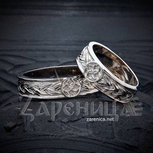 Кольцо плетёное со Свадебником,