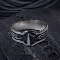 Кольцо с Руной Лагуз