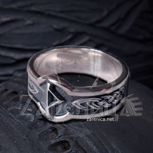 Кольцо с Руной Турисаз,
