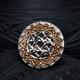 Кольцо Звезда Лады в обережном Солнце с позолотой