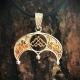 Оберег Рожаница в Луннице с позолотой