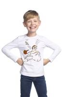 """Джемпер для мальчиков белый """"Волшебный Конь"""" оранжевый"""