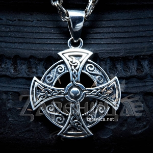 Оберег Кельтский Крест с чернением,